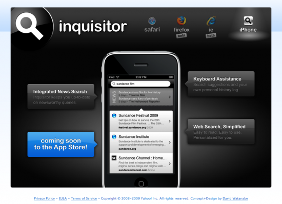 Teaser do Inquisitor no iPhone