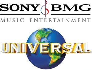 Logos da Sony BMG e Universal