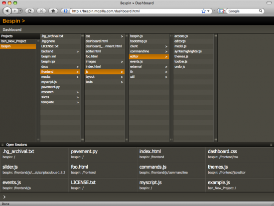 Bespin no Firefox 3
