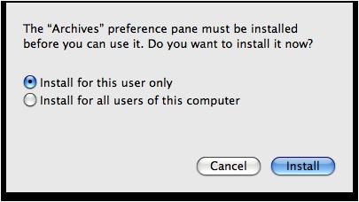 Instalar prefPane usuários