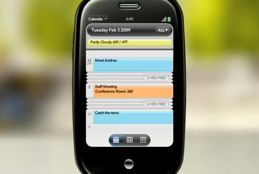 Vídeo da interface do Palm Pre
