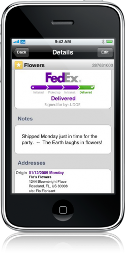 FedEx Mobile for iPhone