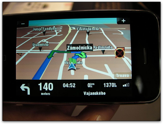 GPS da Sygic no iPhone
