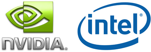 Logos da NVIDIA e Intel