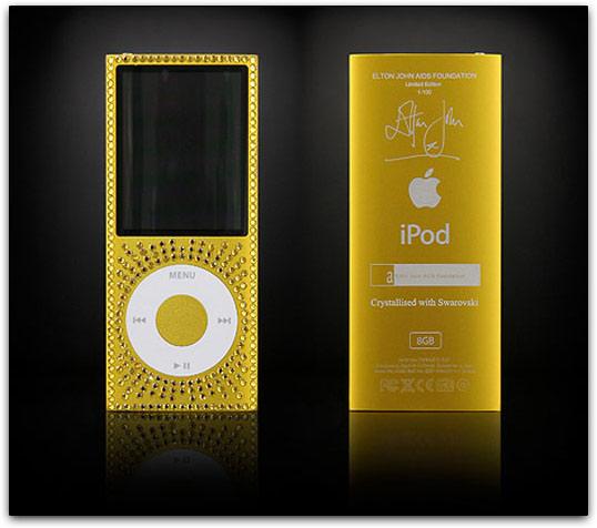 iPods nano com assinatura de Elton John