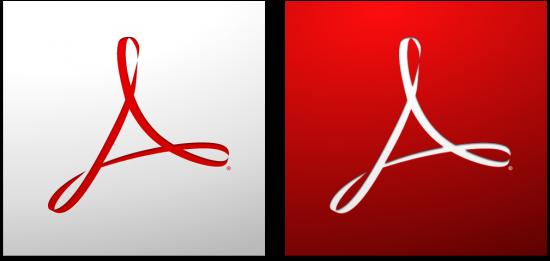 Ícones do Adobe Acrobat e Reader