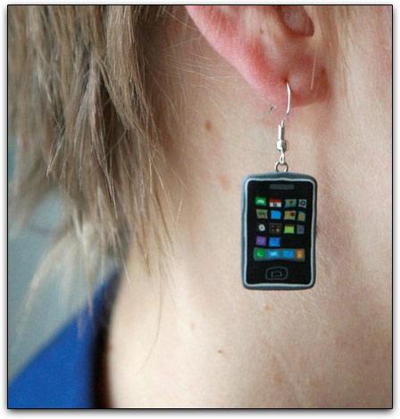 Brincos de iPhones