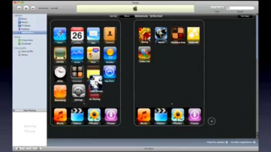 Gerenciamento de Apps pelo iTunes