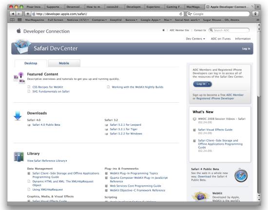 Safari Dev Center