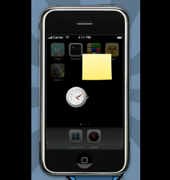 Dashboard no iPhone