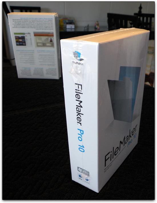 Caixa do FileMaker Pro 10