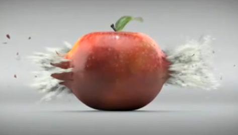 Amora contra maçã