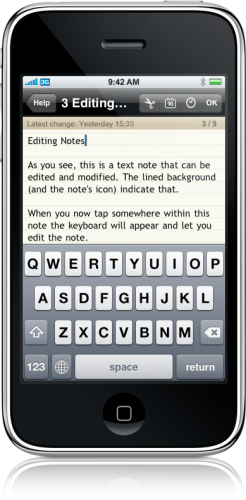 Notebooks no iPhone