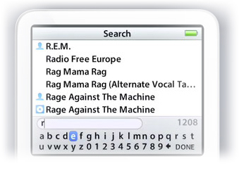 Busca no iPod