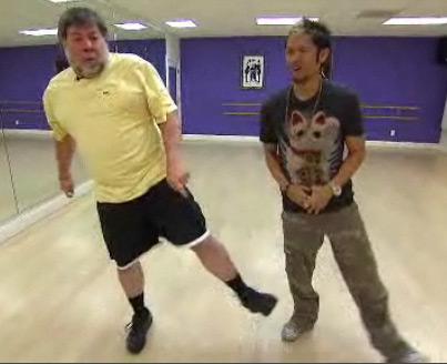 Woz dancing