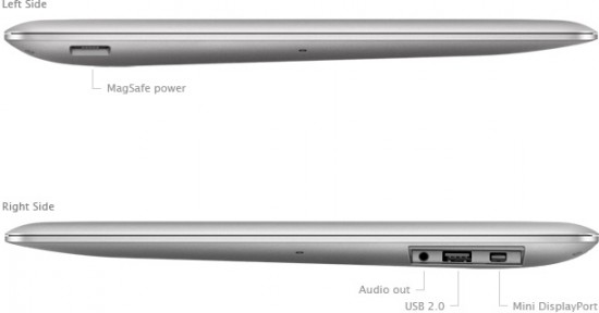 Lateral do MacBook Air