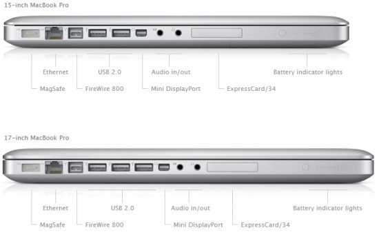Lateral do MacBook Pro