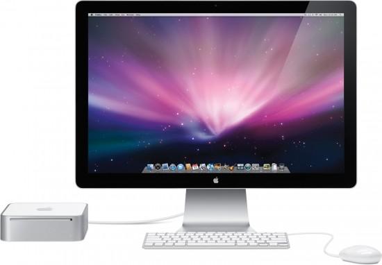 Mac mini e LED Cinema Display