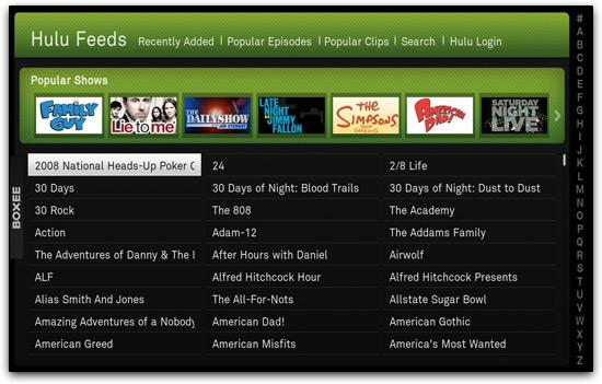 Hulu no Boxee