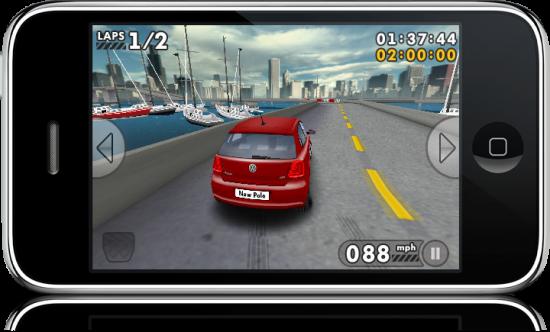 Volkswagen Polo Challenge 3D no iPhone