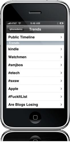 Trends no Tweetie