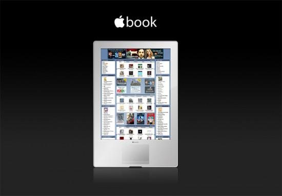 Mockup de leitor de eBooks da Apple
