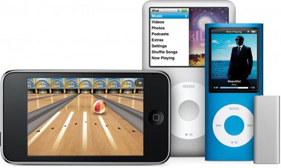 Nova linha completa de novos iPods