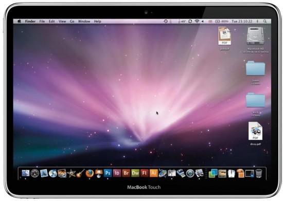 Mockup de MacBook Touch
