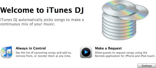 iTunes DJ no iTunes 8.1