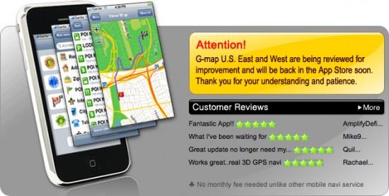 G-Map fora da App Store