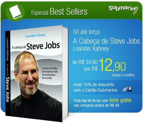 A cabeça de Steve Jobs no Submarino
