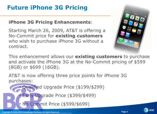 iPhone 3G sem contrato na AT&T