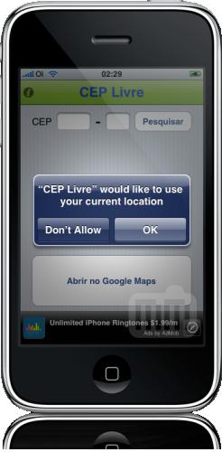 CEP Livre no iPhone