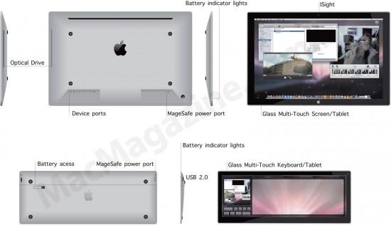 Conceito de iMac Multi-Touch
