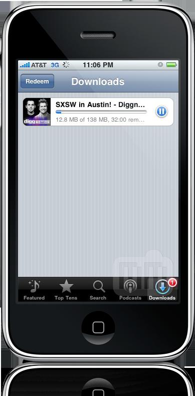 Podcasts com mais de 10MB no iPhone OS 3.0