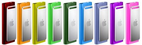 iPods shuffle 3G coloridos