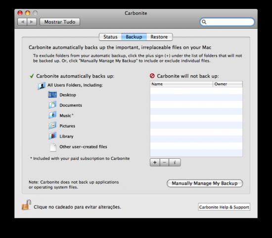 Carbonite chega ao Mac
