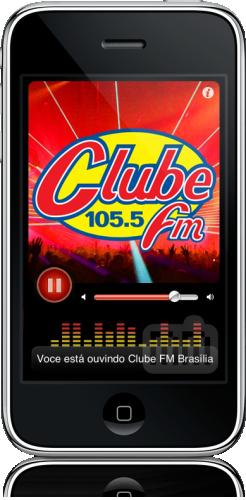 Clube FM, Brasília no iPhone