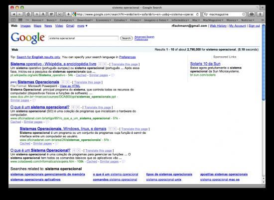 Melhorias em buscas no Google