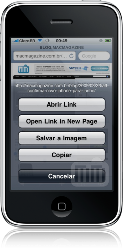 Mobile Safari no iPhone OS 3.0