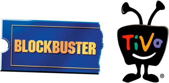 Logos da Blockbuster e TiVo