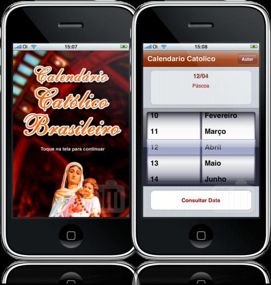 Calendário Católico no iPhone