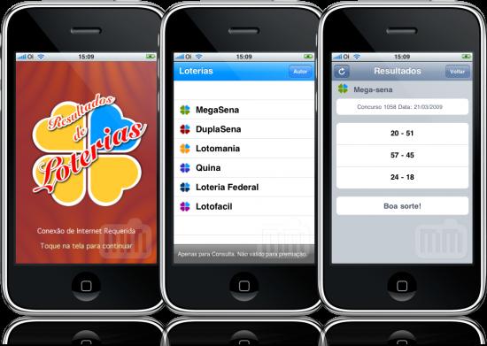 Loterias Brasil no iPhone