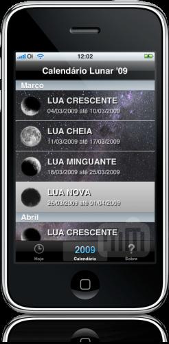 Calendário Lunar '09 no iPhone