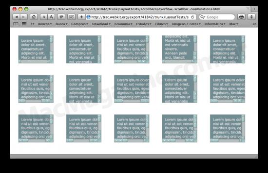 Barras de rolagem customizáveis no WebKit