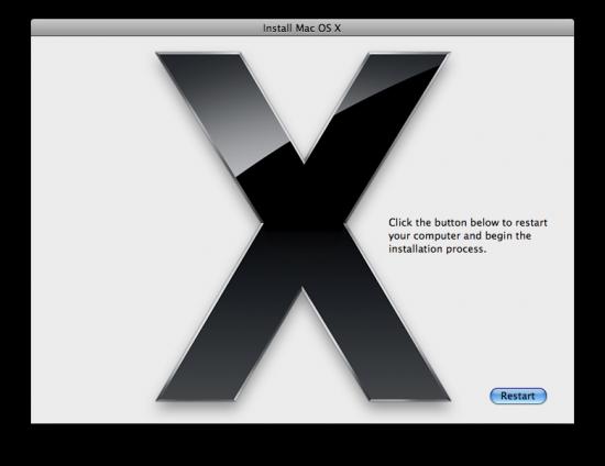 Reiniciando pelo DVD do Mac OS X