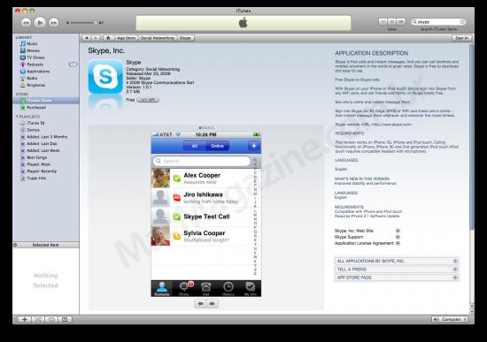 Skype na App Store Japan