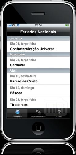 Feriados '09 no iPhone