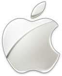 Logo prata da Apple