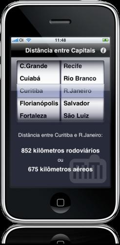 Distâncias no iPhone